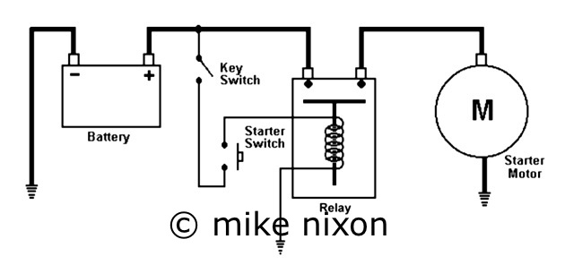 how to wire up a starter motor relay